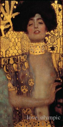 Enmarcados, RE043 # Gustav Klimt - Judith y la cabeza de aceite pared del arte pintado a mano de pintura sobre lienzo Holofernes Decoración Multi Tamaños