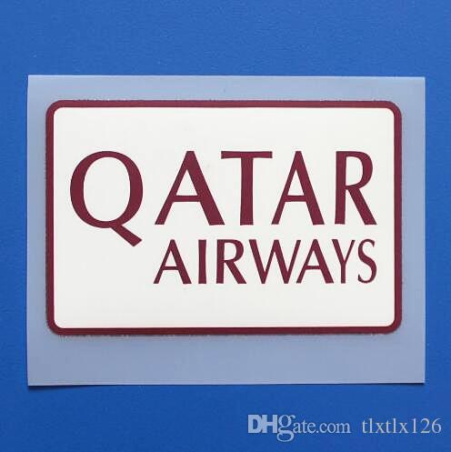 2018/2019 Qatar Airways Sponsoru yazı tipi futbol yaması Qatar Airways sleeve Sponsoru rozeti