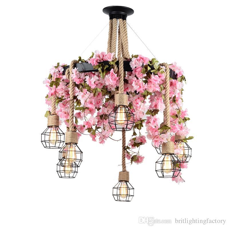 Çiçek Yaprak Sanat Kolye Işık Bar Cafe Yeşil Kolye Lamba Yaratıcı Restoran Giyim Mağazası Ekran Pencere Dekorasyon Sarkıt Aydınlatma