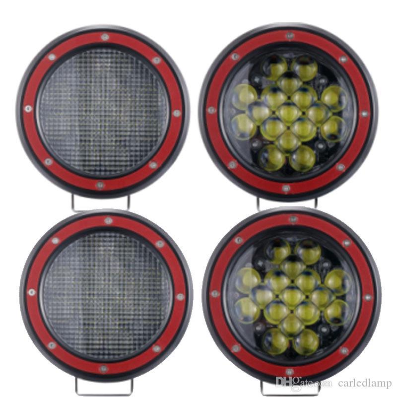 Pracy LED Bar 4x4 Off Road 5inch Light Work 51W Car Powódź Offroad Truck SUV ATV 12V 24 V 5D Light Light Lampa