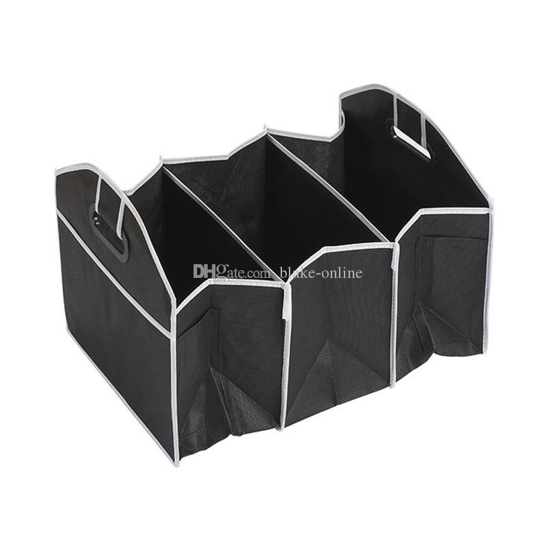 Car Storage Bag Multi-Pocket Organizer Large Capacity Folding Storage Bag Car Trunk Organizer Car Toys Food Storage Container Bags Box