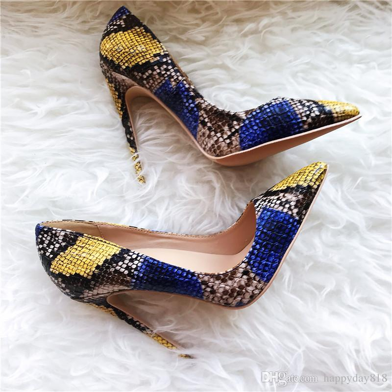 Blue And Yellow Heels