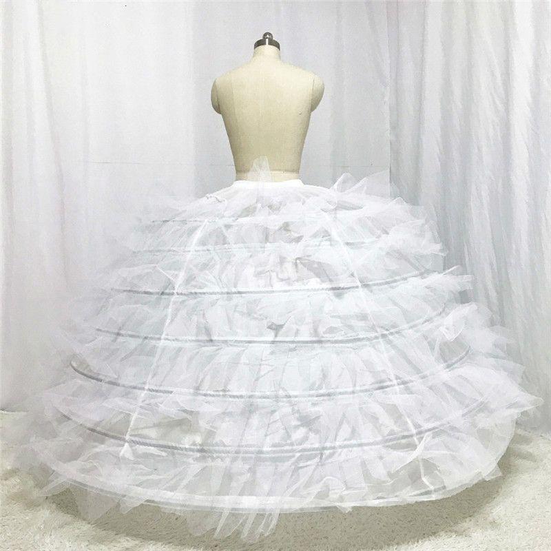 Дизайнер Свадебные Petticoat Семь слои с жестким Тюлем для Puffy Свадебного платья 2018 года