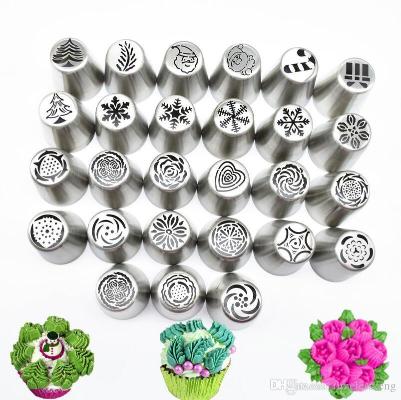 2019 Russian Piping Tips Christmas Design Icing Piping Tips Set Cake Decorating Supplies Russian Nozzles Pastry Baking Tool From Timelesszeng 22 12