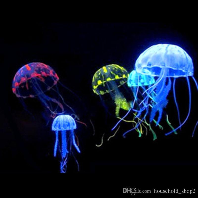 2019 Glowing Jellyfish Ornament Decoration For Aquarium Fish Tank Imitation Floating Jellyfish Mini For Home From Householdshop2 053 Dhgatecom