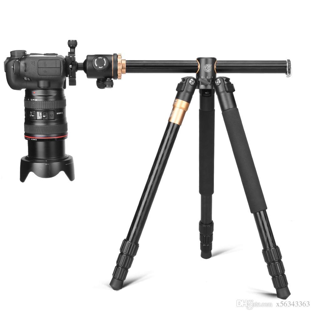 QZSD Q999H Professional Multifunction Aluminium Horizontal Camera Tripod Monopod with Ball Head Center Column for DV DSLR