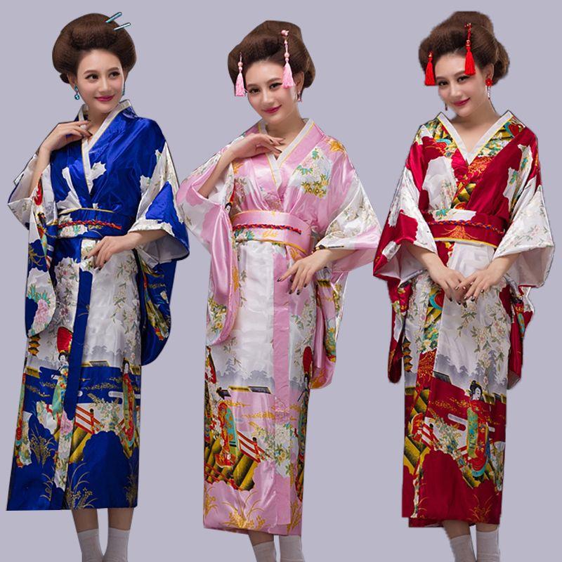 Cos manga larga animada, traje tradicional japonés, vestido suelto de kimono estilo japonés, vestido de verano.cosplay