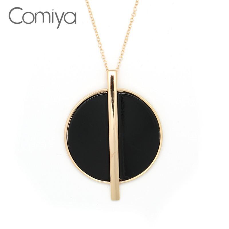 Comiya pendiente grande collares para las cadenas de Mujeres de aleación de zinc Bijoux Femme Compras en línea Accesorios Collar largo