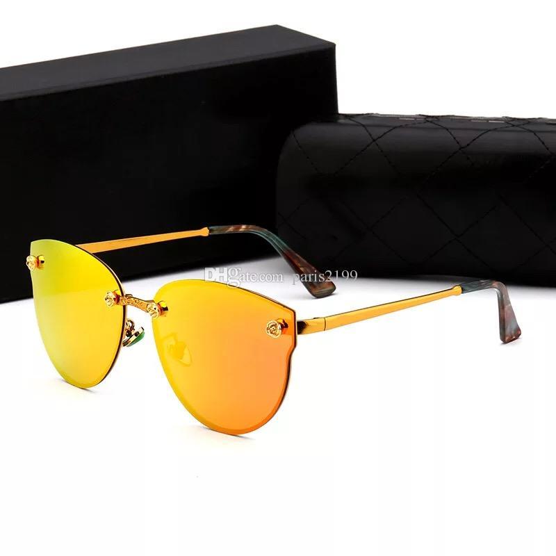 2018 nuovi arrivi donne di alta qualità occhiali da sole Blaze occhiali da vista montatura in oro rosa occhiali da sole con lenti a specchio