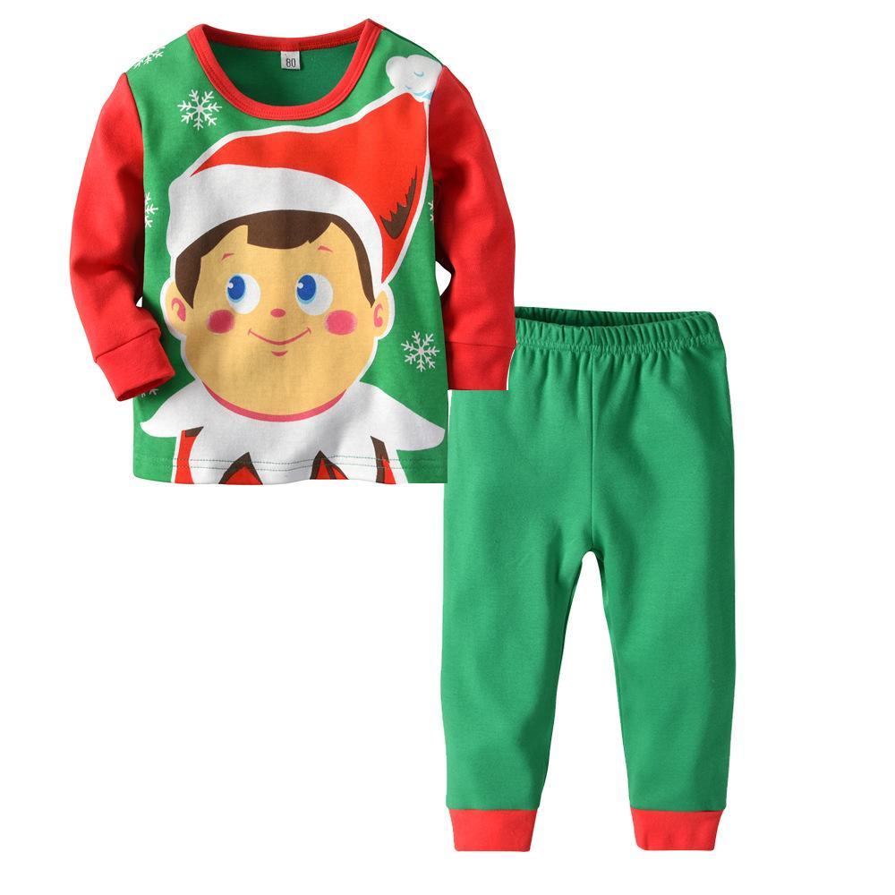 Новое поступление Рождество Снеговик Маленькие Мальчики Девочки Pjs Хлопок Пижама Наборы Детская Детская Одежда Набор Детская Одежда