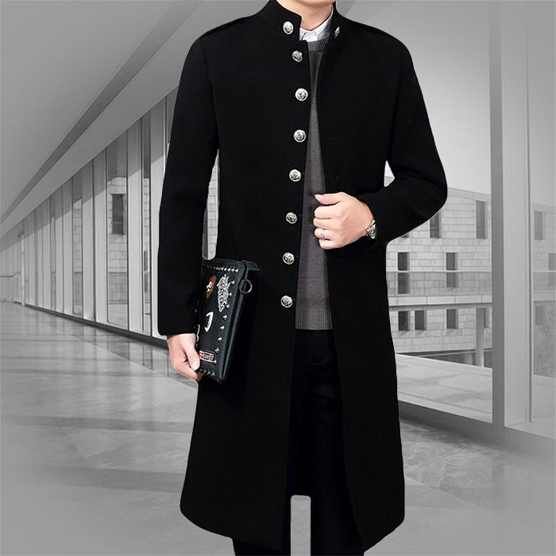 Große Warme Jungen Kleidung Knie Mantel Stehkragen Jacke Ankunft Koreanischen Stil Lange Super Winter Männlichen Männer Großhandel Neue Erweiterung A4Lqj35R