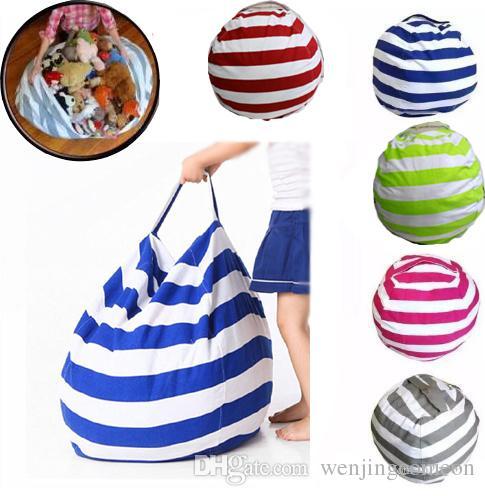 الأزياء أكياس تخزين الفول الاطفال أفخم لعب كيس القماش كرسي غرفة نوم محشوة الحيوان المحمولة الملابس حقيبة التخزين 5 ألوان