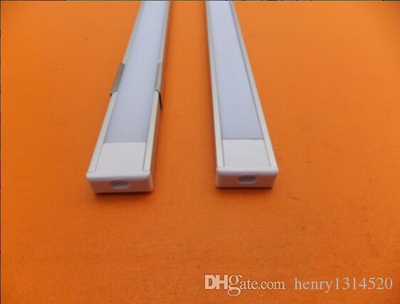 Produzione di fabbrica Flat Slim LED Strip Light Light Striscia di alluminio Barra del profilo del profilo del profilo con coperchio e tappi di estremità