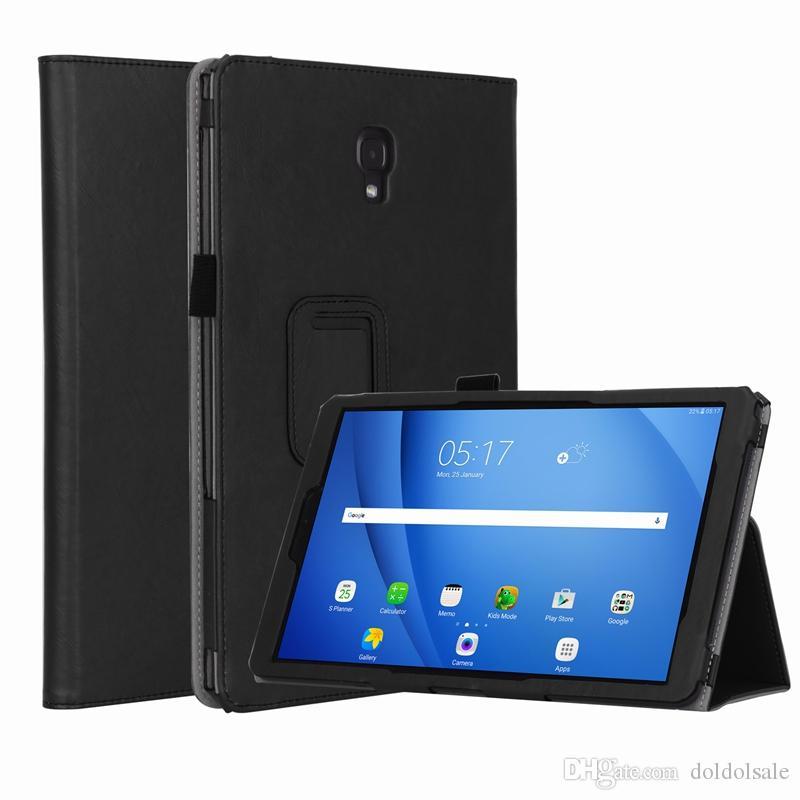 Роскошные книги откидная крышка для Samsung Galaxy Tab A2 10,5 дюйма T590 T595 T597 2018 Tablet Case авто пробуждения сна с карты слоты ручной ремешок