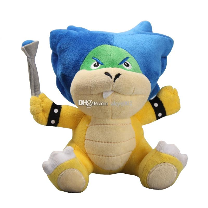 "Hot Sale 7"" 18cm Super Mario Bros Ludwig With Blue Turtle Shell Koopa Cute Koopalings Plush Toys Soft Dolls"