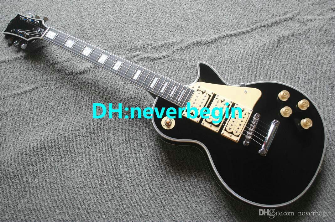 Meilleur Qualité Personnalisé Ace Frehley Guitare Électrique Noir Nouvelle Arrivée OEM Disponible