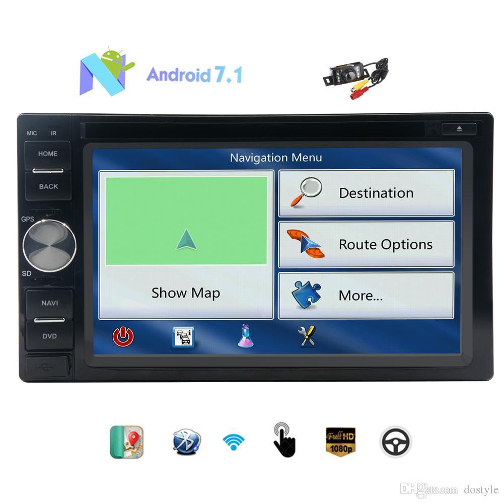 Eincar Double din GPS Navigation 6.2'' Car DVD Player Octa-core Android 7.1 Headunit Bluetooth GPS Navigation 2din Car Stereo Reverse Camera