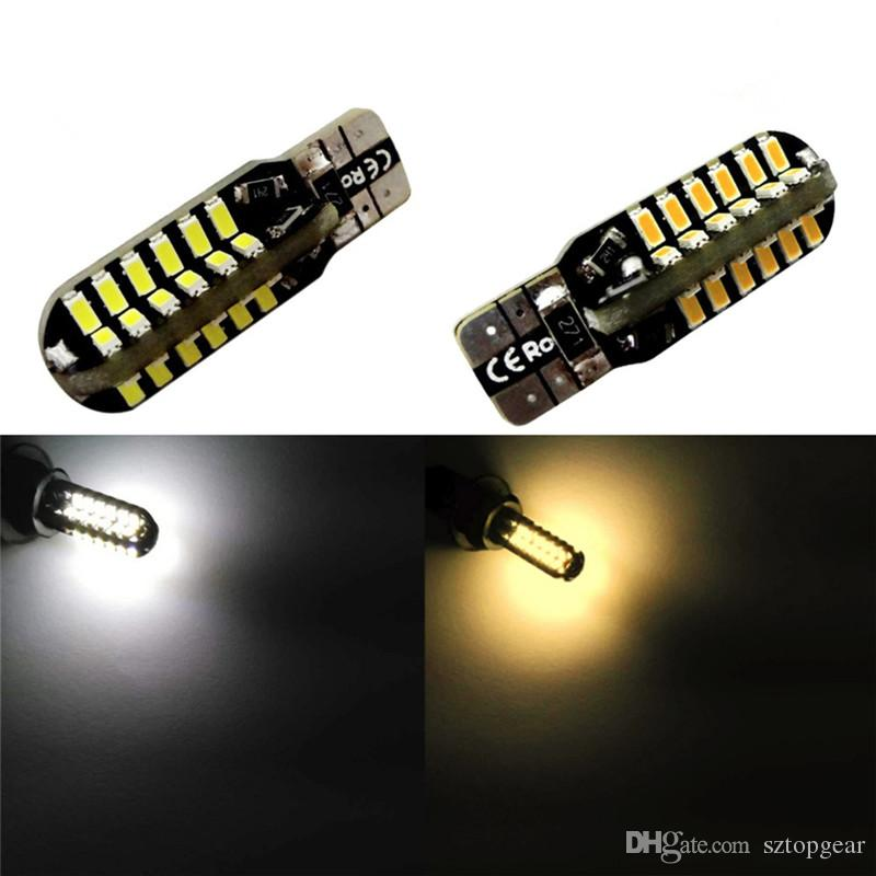 W5W T10 48 3014 SMD LED Car Clearance Lights Canbus NO ERROR Auto Turn Signal Bulb Parking Lamps White Warm White DC 12V