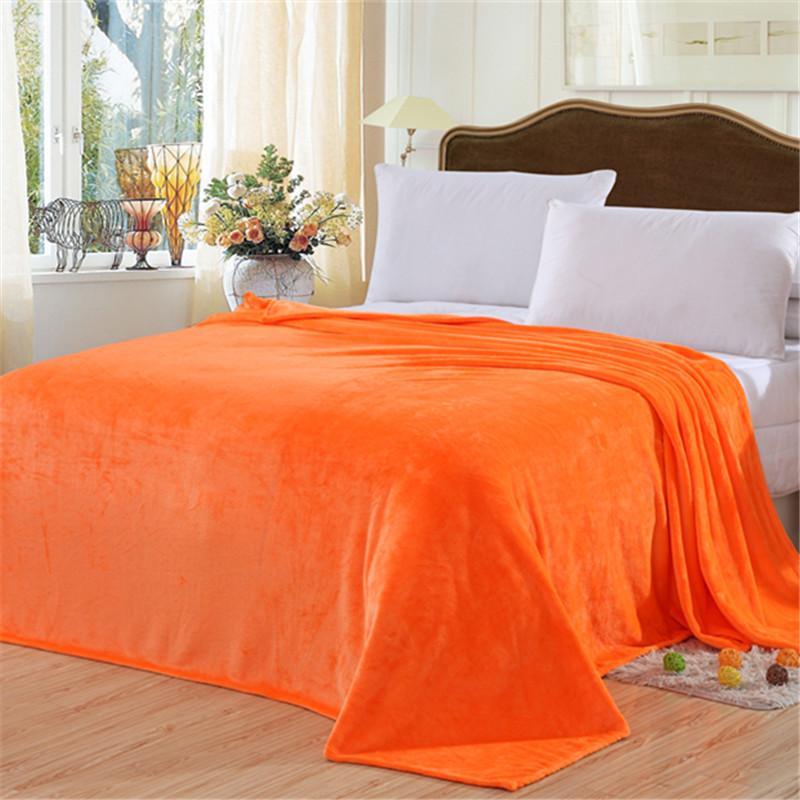 Cobertor da manta da flanela da cor sólida Cobertor da cama na cama / sofá / curso 100x150cm Cobertor da cesta de 180x200cm 180x200cm 200x230cm Adulto / crianças