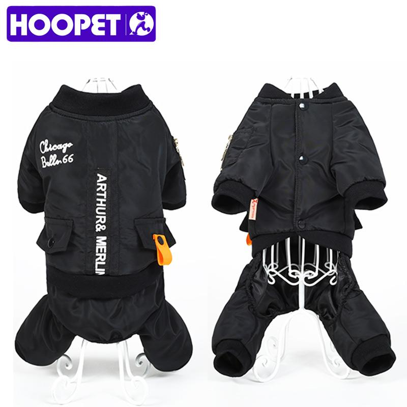 HOOPET Little and Large Dog Jumpsuit Clothes Warm Hoodie Waterproof Pet Coat Winter Jacket
