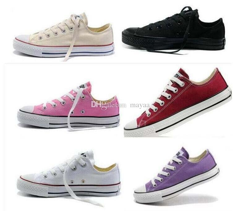 2019 High Quality New Unisex Low-Top & High-Top Adult Women's Men's star Canvas Shoes 14 colors Laced Up Casual Shoes Sneaker shoes retail