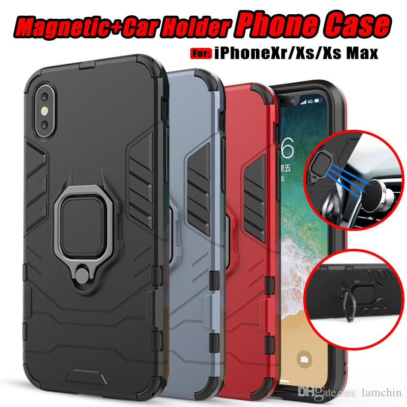 super popular a791d 64d98 For IPhone XS Max IPhone XR Magnetic Phone Case With Ring Car Holder  Panther Back Cover Stand Cases Unique Cell Phone Cases Cool Cell Phone  Cases From ...