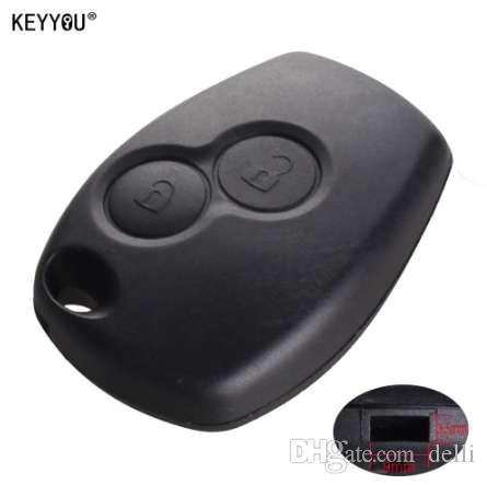 Keyyyou без лезвия 2 Кнопки Кнопки автомобиля Скользовательская оболочка FOB Cover Cover для Renault Dacia Modus Clio 3 Twingo Kangoo 2