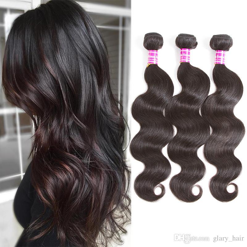 Manojos de cabello humano brasileño de la virgen Paquetes de cabello de onda corporal Tramas 100% Sin procesar Peruano de Malasia Indio de la Virgen India Trato de la armadura del pelo