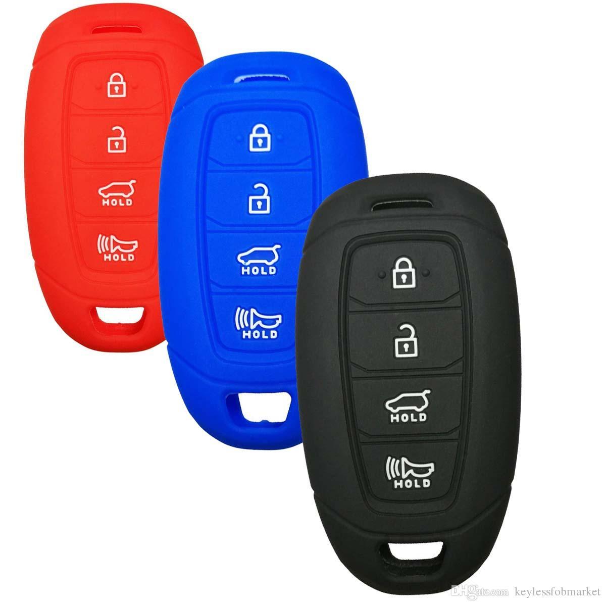 colore nero Cover protettiva in silicone di alta qualit/à per Audi con sistema keyless 3 tasti