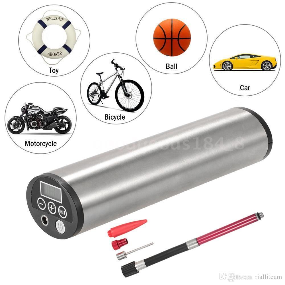 الجملة الساخن 150PSI قابلة للشحن كهربائية محمولة للدراجات السيارات دراجة دراجة مضخة الاطارات نافخة السيارات ضاغط الهواء مع شاشة LCD