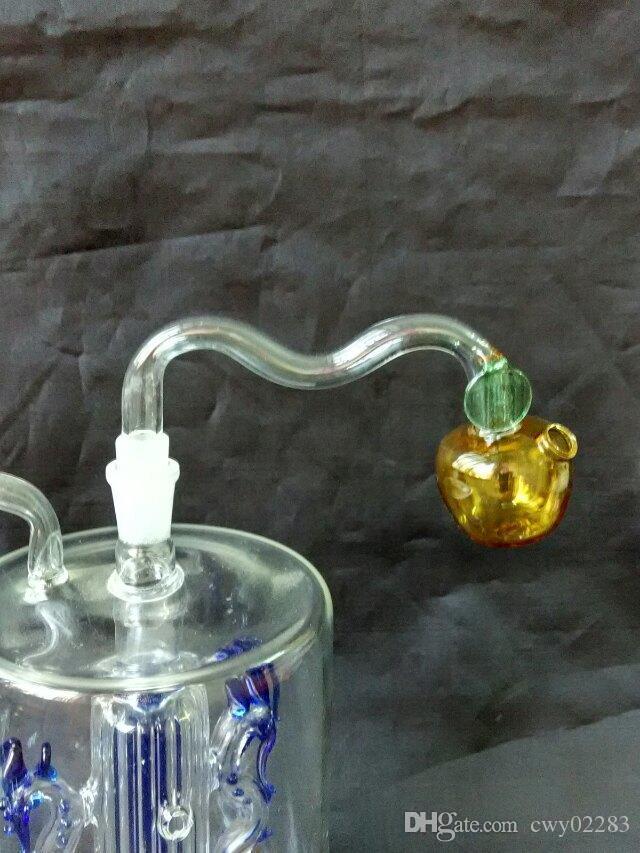 Mela di colore, bong di vetro all'ingrosso Bruciatore a olio Tubi di vetro Tubi di acqua Rigs di petrolio Fumo