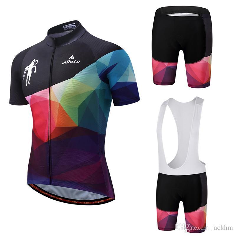 MILOTO YENI 2018 Pro Team Bisiklet forması set MTB Bisiklet üniforma döngüsü gömlek Ropa Bisiklet Jersey Önlüğü Şort Bisiklet seti maillot ciclismo