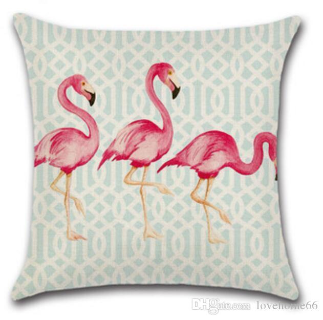 Acquista Fodere Cuscini Vendita Calda Flamingo Federa San Valentino Federe Cuscini Scivoli Cuscini Fodere Cuscini In Cotone Lino 18 18 Pollici 45 45 Cm A 3 3 Dal Lovehome66 It Dhgate Com
