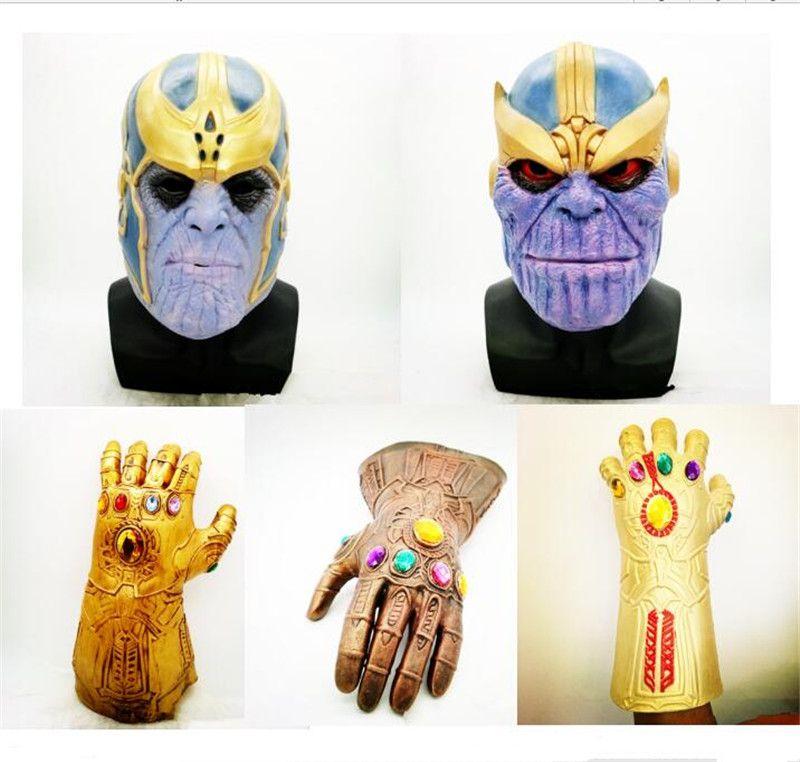 US Thanos Mask Avengers Infinity War Cos Latex Helmet Halloween Masquerade Props