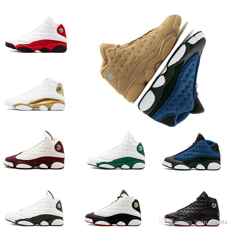 Баскетбольная обувь 13 13s Чикаго GS Hyper Royal Италия синий разводят кроссовки Бордо DMP пшеницы оливкового цвета слоновой кости черный мужская спортивная обувь size8-13