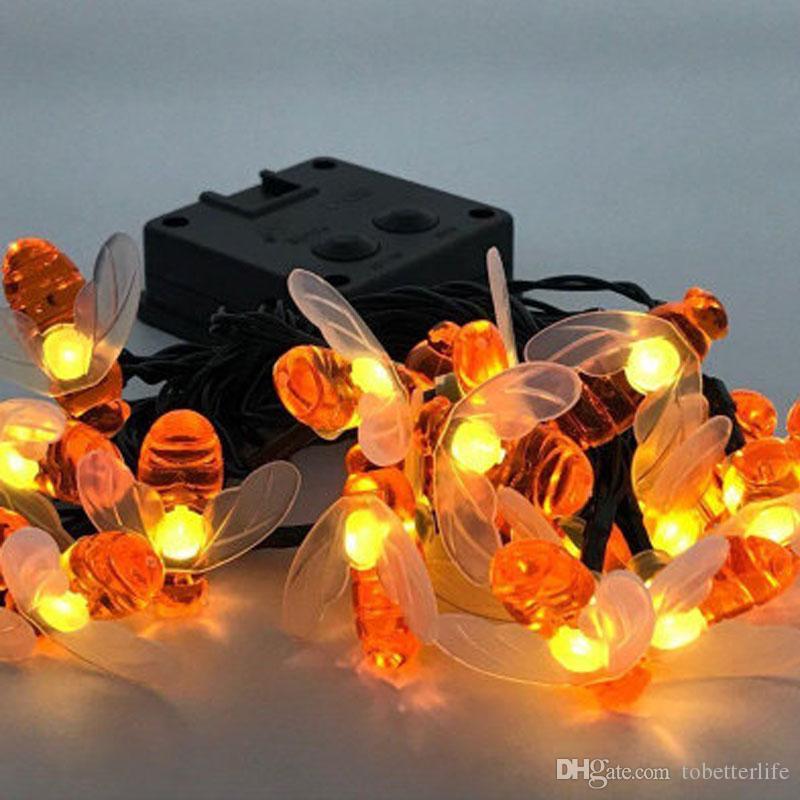 الشمسية ضوء سلسلة 20leds 30LED عسل النحل الجنية حفل زفاف حديقة الطاقة الشمسية سلسلة الأنوار في الهواء الطلق Dectoration
