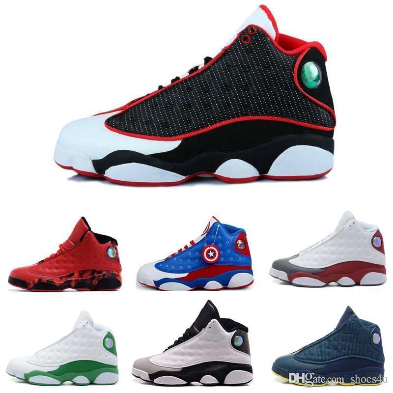 [Kutu Ile] Toptan Erkek Basketbol Ayakkabı XIII 13 Bred Siyah Gerçek Kırmızı Spor Ayakkabı Atletik Koşu ayakkabısı En Iyi fiyat Sneakers ...