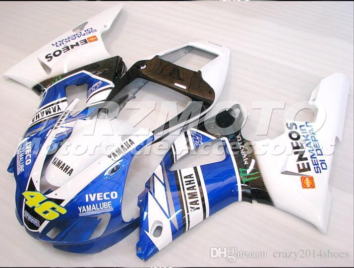 3 Free Gifts New motorcycle Fairings Kits For YAMAHA YZF-R1 1998-1999 R1 99-99 YZF1000 bodywork hot sales loves White B3