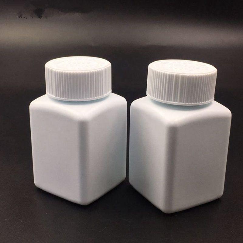 Bouteilles blanches de 100ml de PE, bouteille en plastique, capsule de pilule de 100g