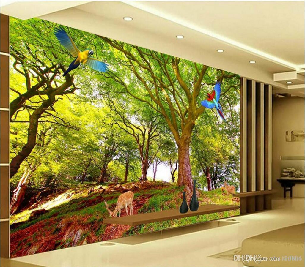 3D Wallpaper für Wohnzimmer benutzerdefinierte Foto Baum Landschaft 3D TV Hintergrund Wand Wohnkultur 3D Wandbilder Wallpaper für Wände 3 d
