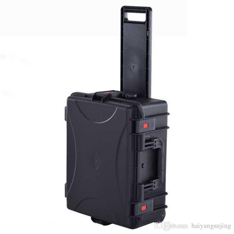 Walizka Narzędzie Case Toolbox Wózek Odporny na uderzenia Uszczelnione Wodoodporna Skrzynia Bagażowa Pudełko z Foam Business Torba