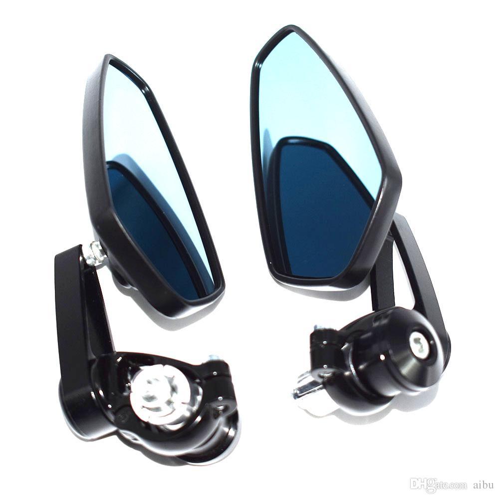 """Para 7/8 """"22mm Universal Motocicleta Espelho Moto Retrovisor Bar End Espelho BMW Kawasaki Honda Retrovisor moto"""