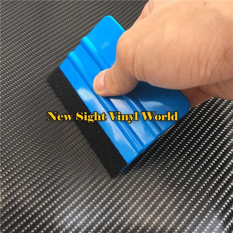 Herramientas de aplicación de coche de escobilla de vinilo de fieltro flexible suave Herramienta de envoltura de coche de raspador de fieltro 100 pcs / lote