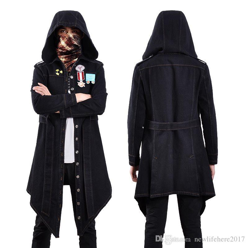 2018 Game Pubg Playerunknowns Battlegrounds Cosplay Costume Winter Coat Jeans Jacket For Halloween Halloween Group Theme Costumes Black And White