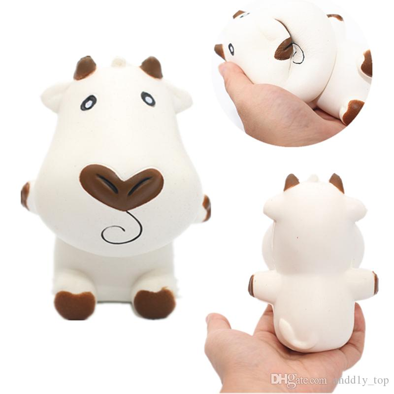 Relax Soft Cow Milk Squishies Child Relief Kawaii Phone Pendant Toy Dairy Squishy Scent Milch Imitation Free Shipping