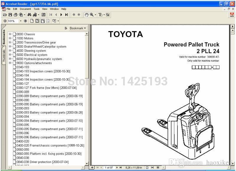 Catálogo de Peças Toyota BT ForkLift