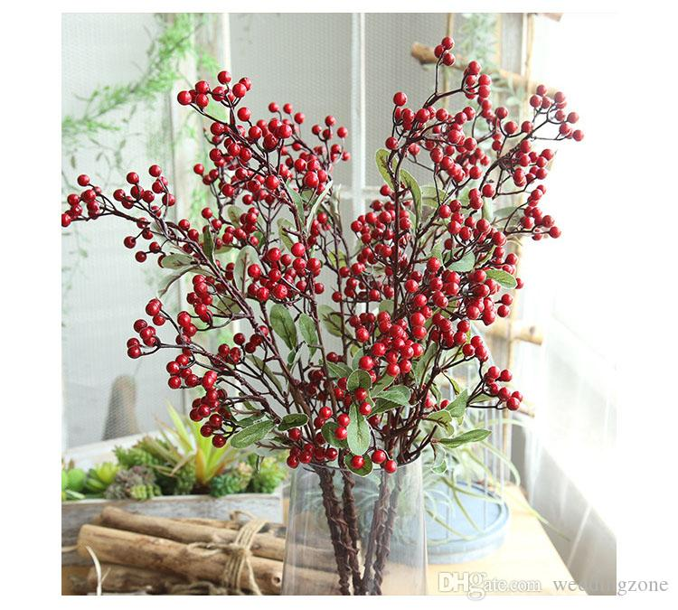 Berry Branches Simulation Fruit Seed Long Branch Christmas