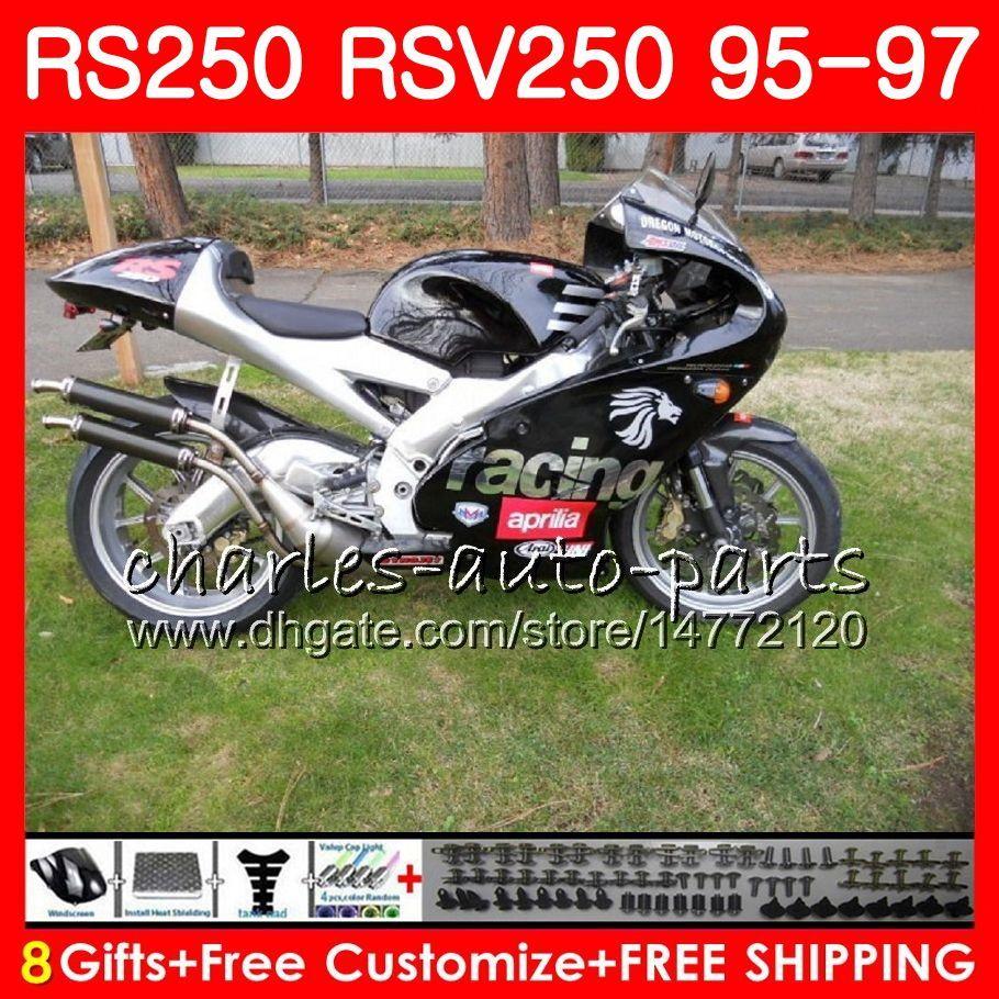 Zapasy czarne nadwozie dla Aprilia RS-250 RSV250 RS250 95 96 97 Ciało 101HM13 RSV250RR RS250R 95 97 RSV 250 RR R 350 1995 1996 1997 Owalnia