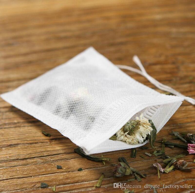 Reusable String Hanging Tea Bags Fine Nylon Mesh Filter Bag Herb Loose DIY Tea Strainer 90*70mm Free Shipping LX3464