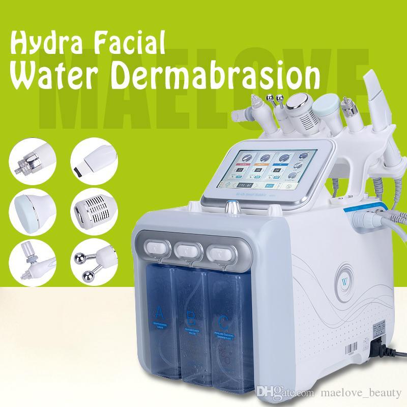Máquina multifuncional Hydra Facial H2 O2 Hydro Dermabrasion Water Peel Tratamiento BIO RF Cuidado facial Limpiador ultrasónico para la piel Limpiador profundo